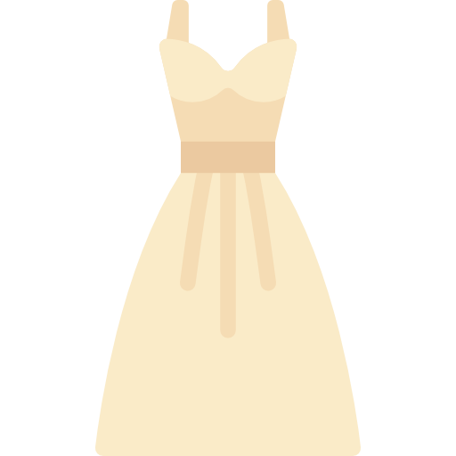 Bridesmaids dress icon